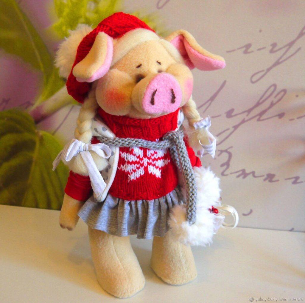 Текстильная свинка