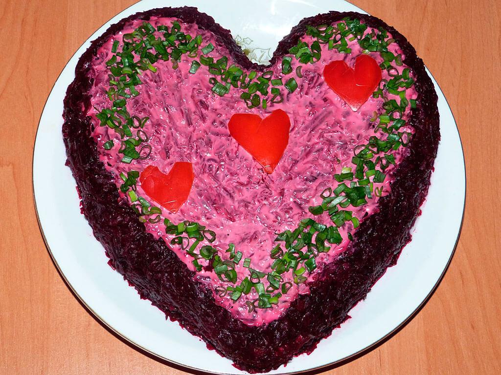 Блюда ко дню Святого Валентина