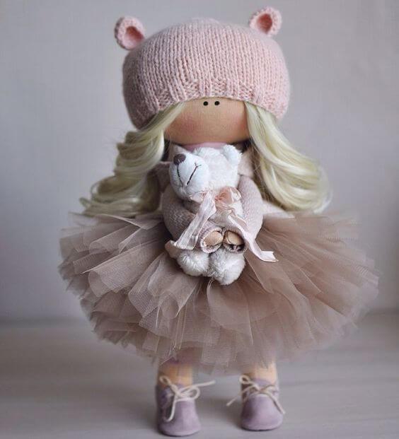 Интерьерные текстильные куклы