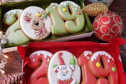 Новогоднее имбирное печеье