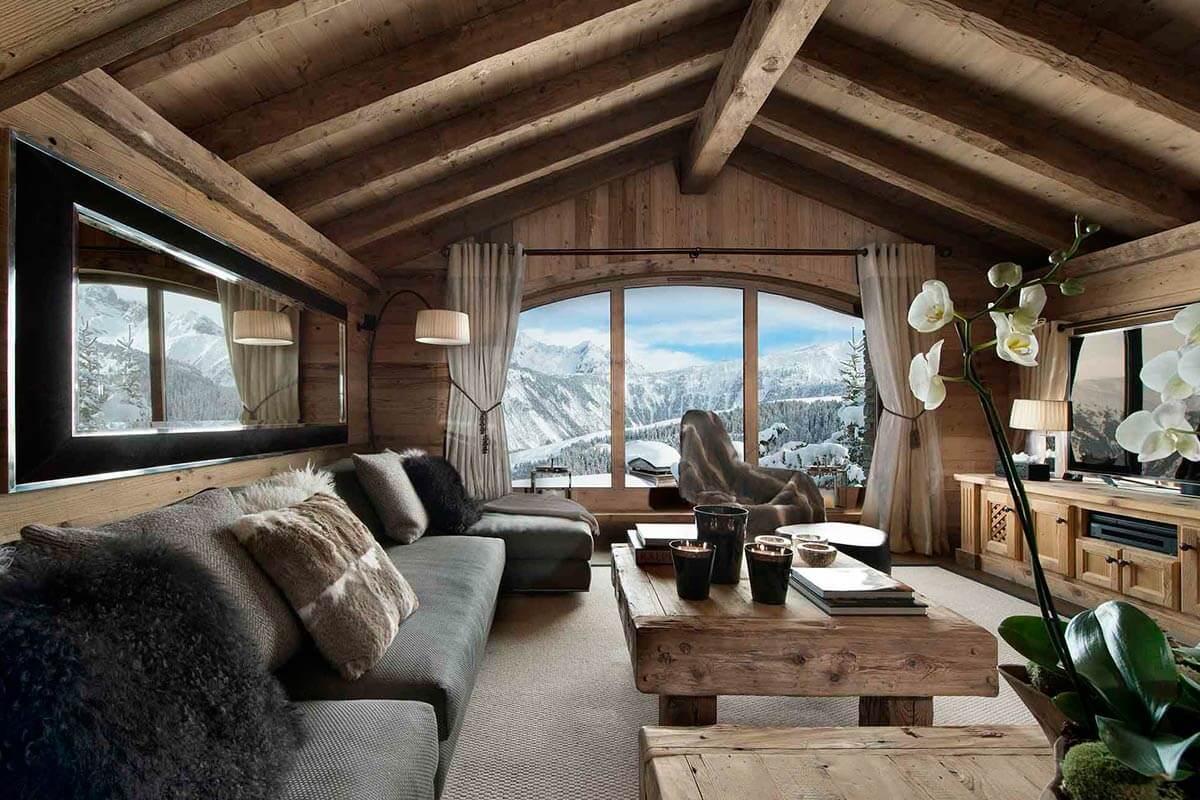 дизайн дома шале внутри фото выполнена приятного материала