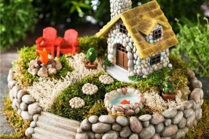Декоративный домик для минисада