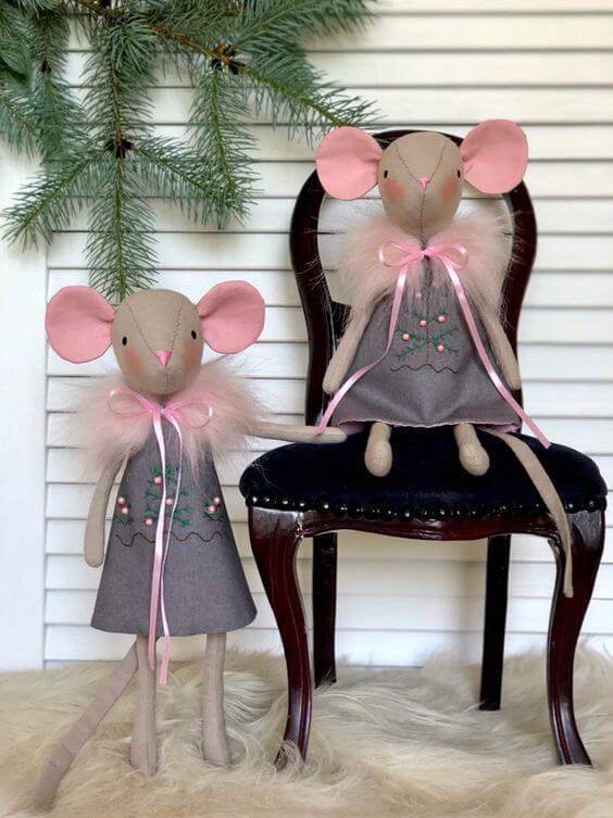 Мягкая игрушка Мышка своими руками