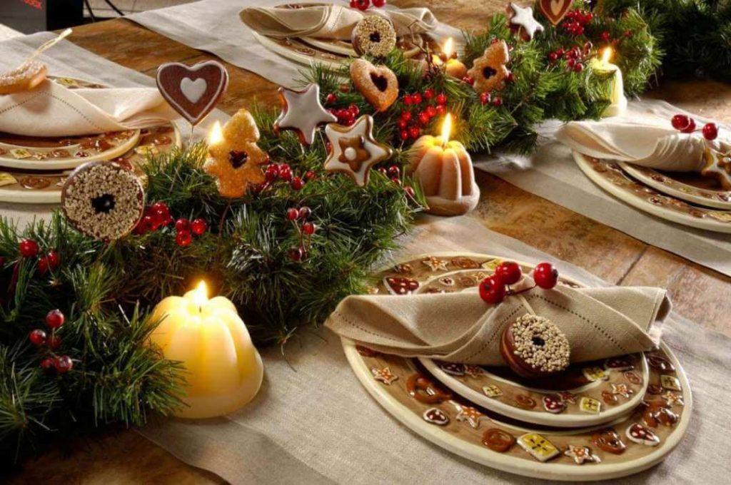 Новогодний стол - декор