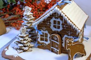 Пряничный рождественский домик