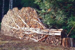 Хранение дров на улице