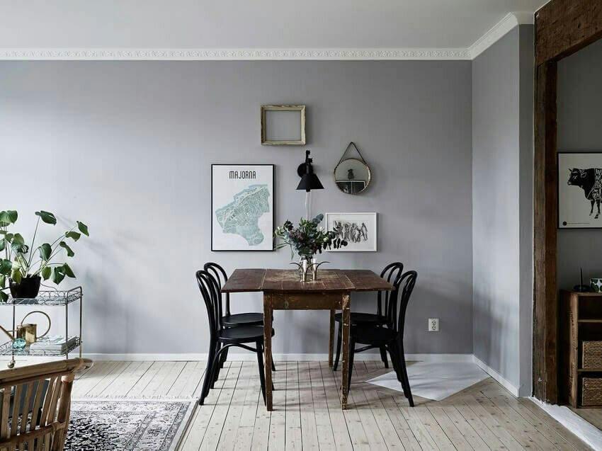 Серый цвет в интерьере