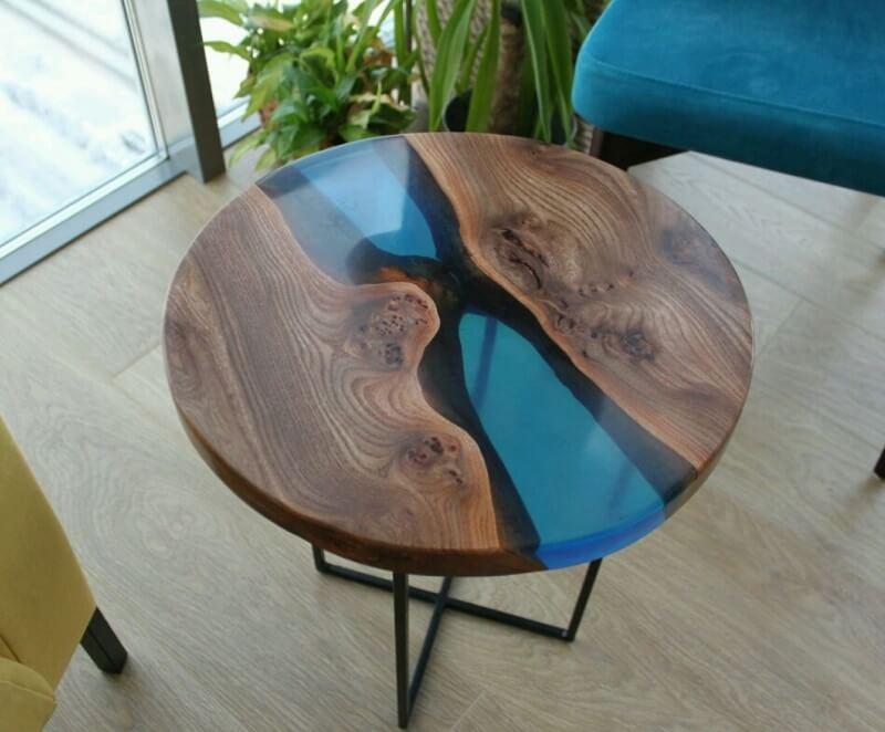 Столы из слэбов с эпоксидной смолой