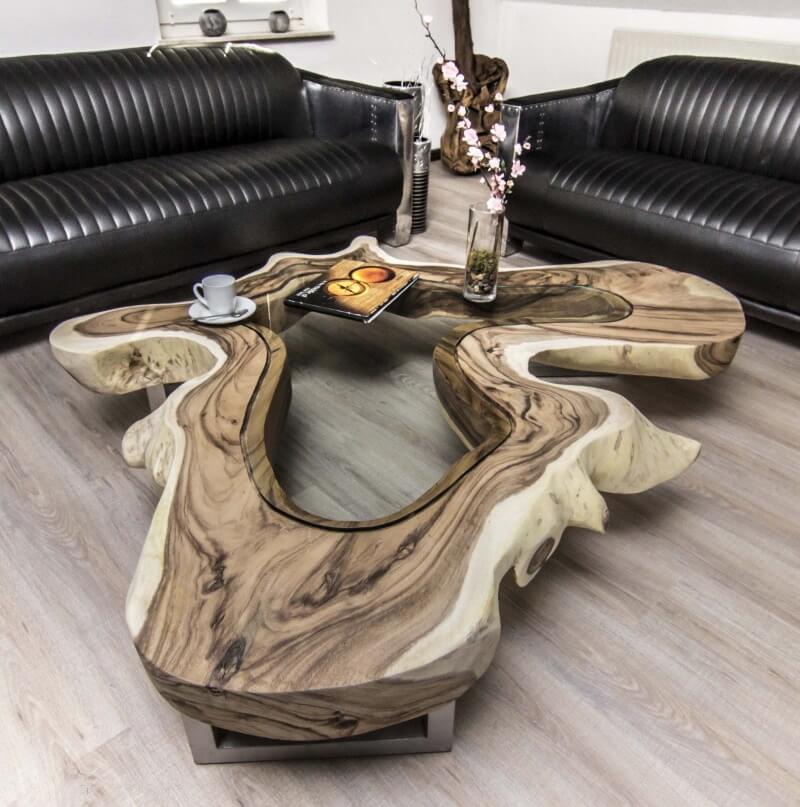 Столы из слэбов со стеклом