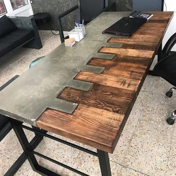 Столы лофт из наборной доски