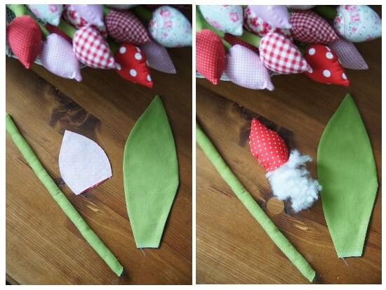 Тюльпаны из ткани - мастер-класс