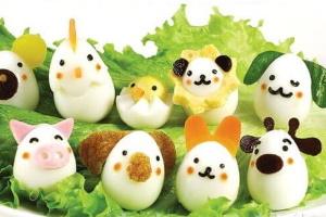 Декор из вареных яиц