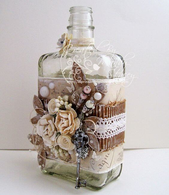 Декорирование бутылок своими руками
