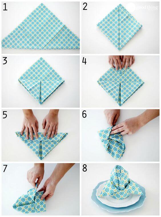 Как красиво сложить салфетки на стол