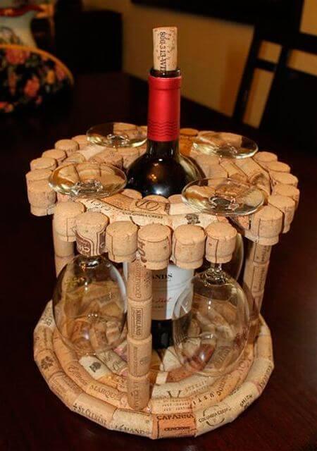 Поделки из винных пробок