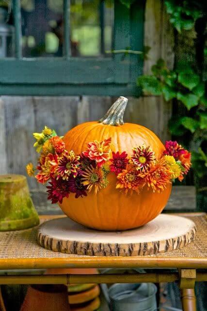 Осенний букет в тыкве