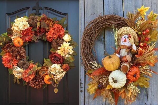 Осенний венок на дверь