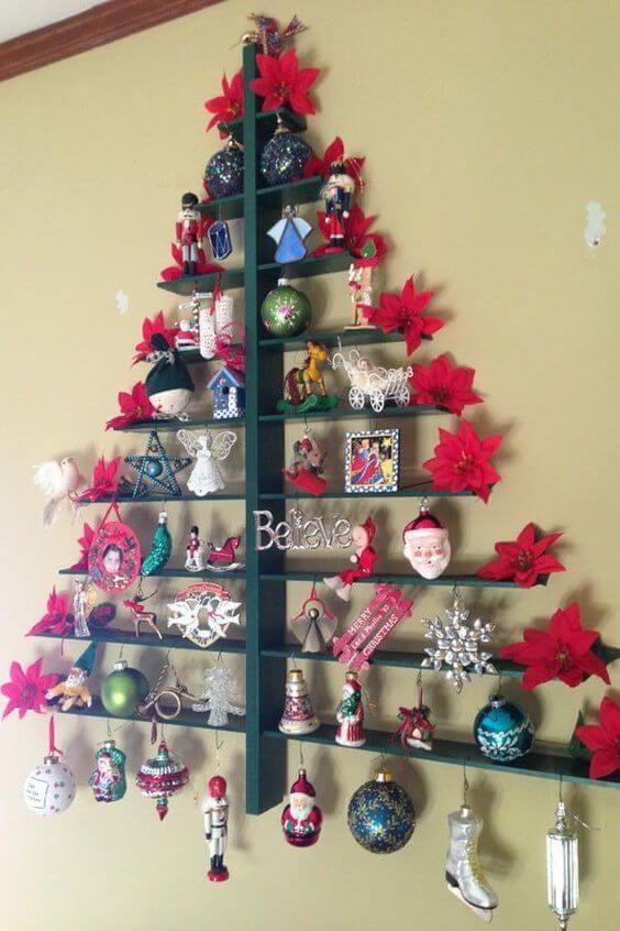 Настенная новогодняя елка своими руками