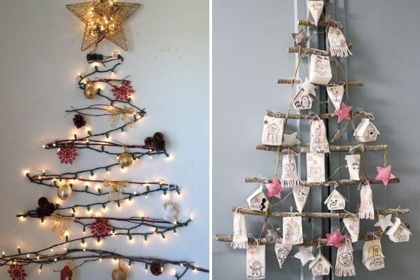 Настенная новогодняя елка