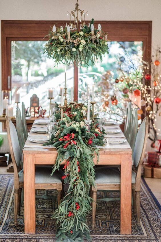 Декор новогоднего стола своими руками