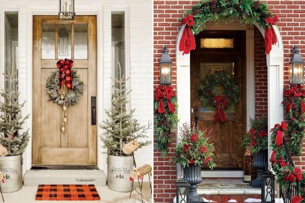 Рождественский декор. Входная дверь
