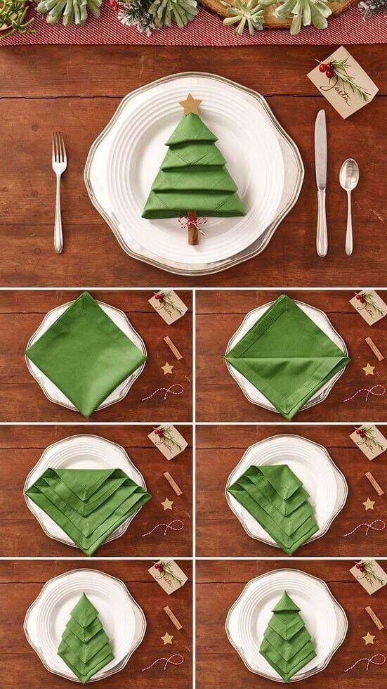Как красиво сложить салфетки на Новогодний стол