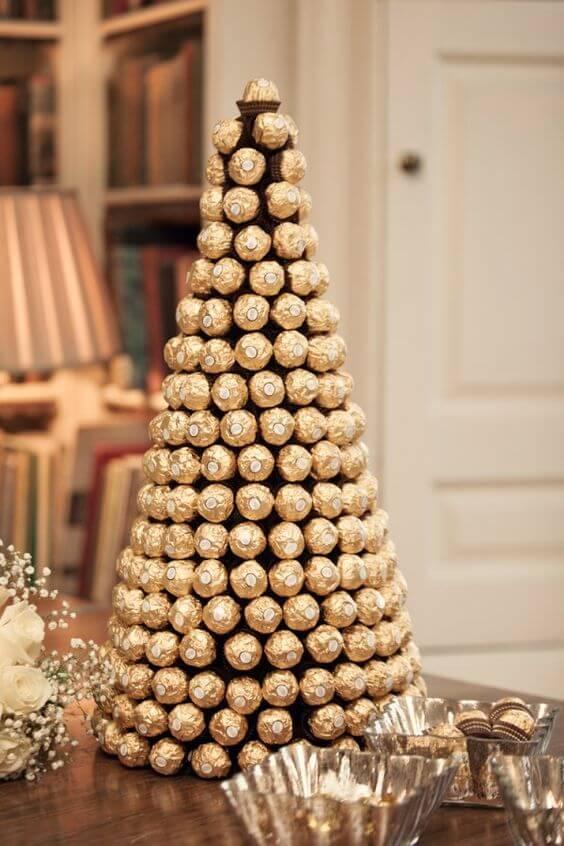 Съедобная елка из конфет
