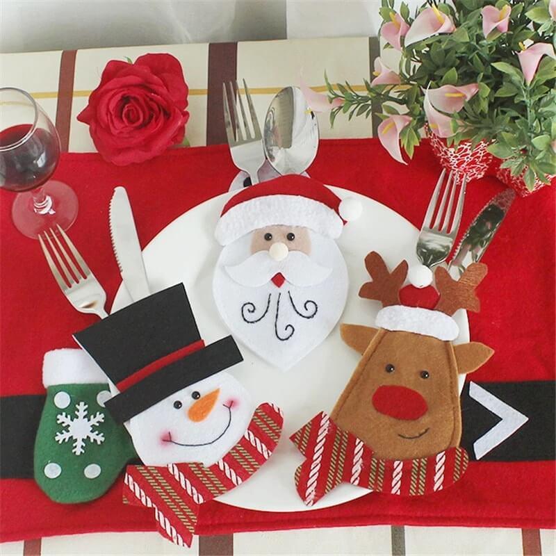 Сервировка новогоднего стола: столовые приборы
