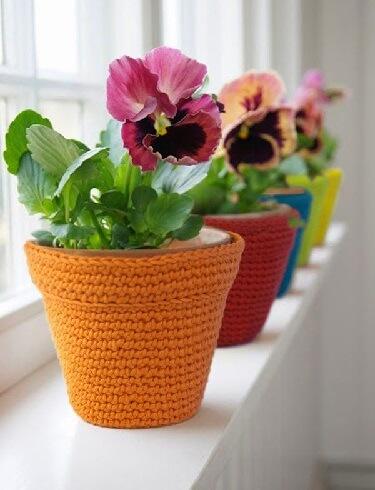 Идеи декора цветочных горшков