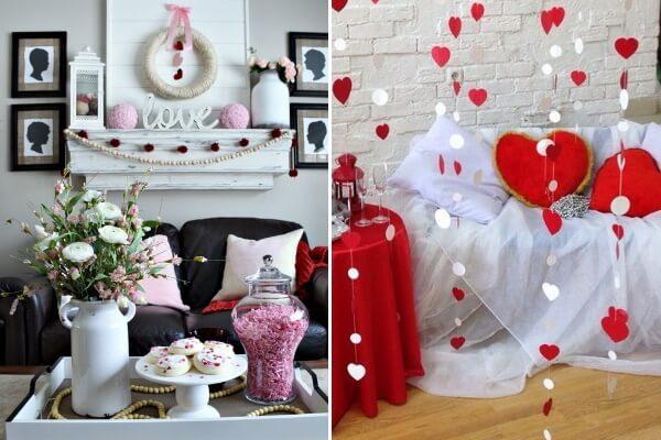 Декор интерьера ко дню Святого Валентина