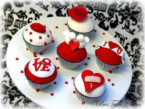 Капкейки ко дню Влюбленных