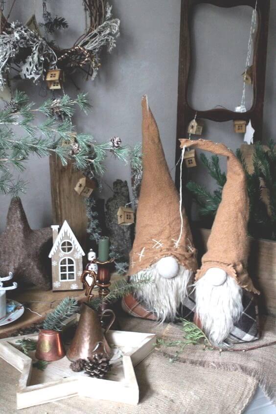 Рождественские гномы в интерьере