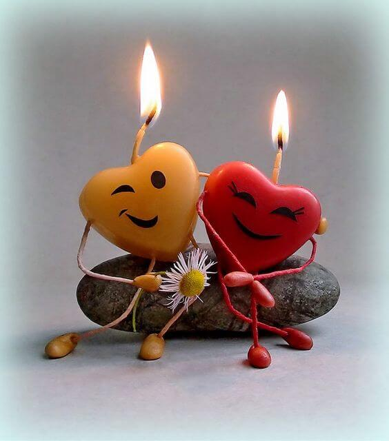 Свечки ко Дню Святого Валентина