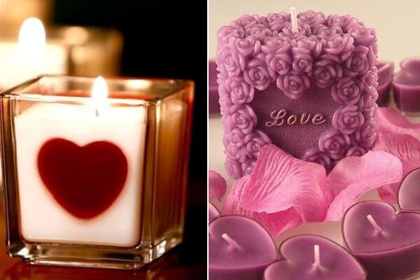 Свечки на День Святого Валентина