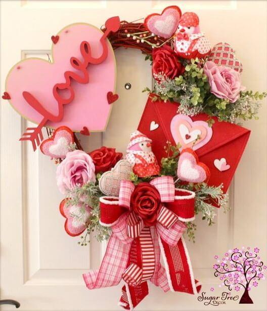 Венок на день Святого Валентина