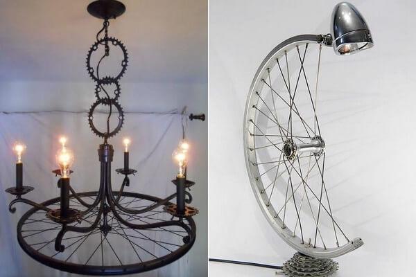 Велосипедное колесо в декоре