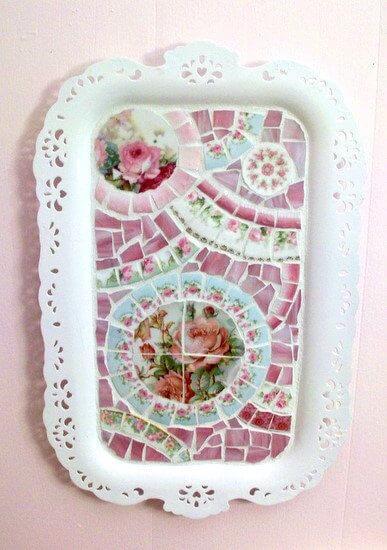 Мозаика из битой посуды: