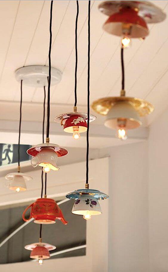 Необычные светильники из старых запчастей