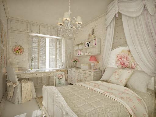 Спальня в стиле Шебби Шик