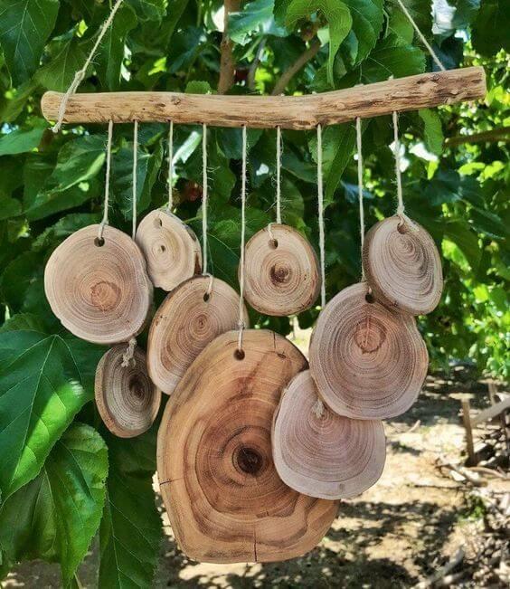 Декор из спилов дерева